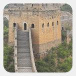 Great Wall of China at Jinshanling, China, Asia 2 Square Sticker