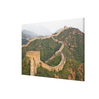 Great Wall of China at Jinshanling, China, Asia Canvas Print