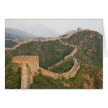 Great Wall of China at Jinshanling, China, Asia Card