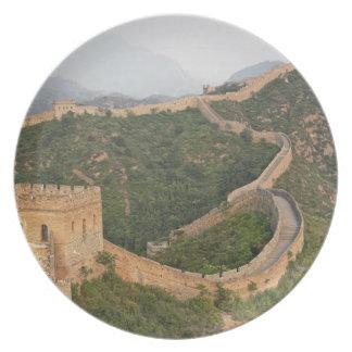 Great Wall of China at Jinshanling, China, Asia Dinner Plate