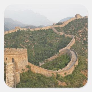 Great Wall of China at Jinshanling, China, Asia Square Sticker