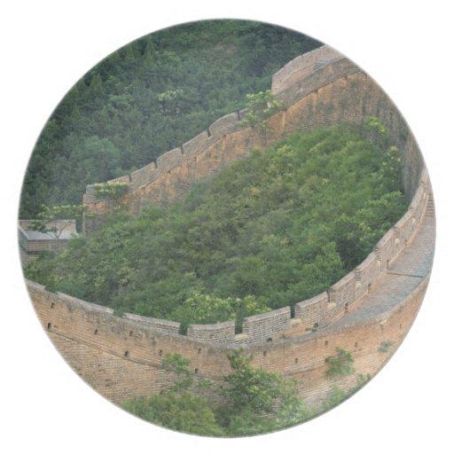 Great Wall of China at Jinshanling, China. Dinner Plates