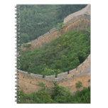 Great Wall of China at Jinshanling, China. Note Books