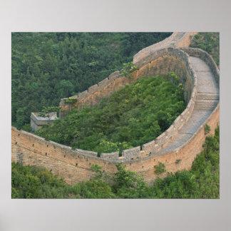 Great Wall of China at Jinshanling, China. Poster