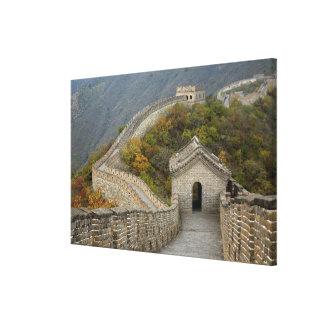 Great Wall of China at Mutianyu Canvas Print