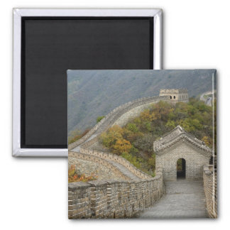 Great Wall of China at Mutianyu 2 Inch Square Magnet