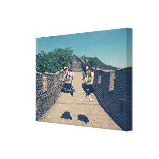 Great wall of China Beijing jumping wall canvas