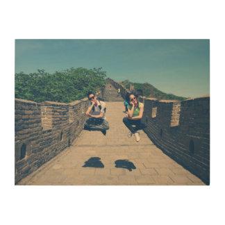 Great wall of China Beijing jumping wall canvas Wood Print