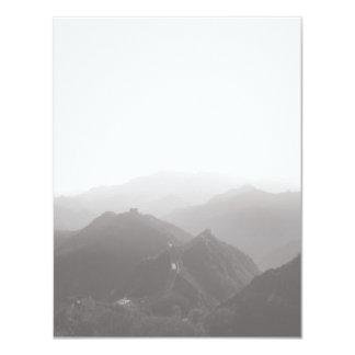 Great Wall of China FLAT NOTECARD 4.25x5.5 Paper Invitation Card