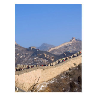 Great Wall of China in winter Postcard