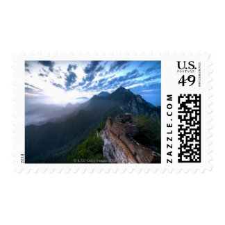 Great Wall of China, JianKou unrestored section. 2 Postage Stamp