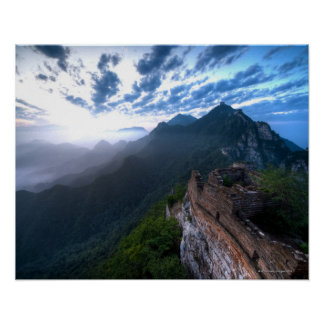 Great Wall of China, JianKou unrestored section. 2 Poster