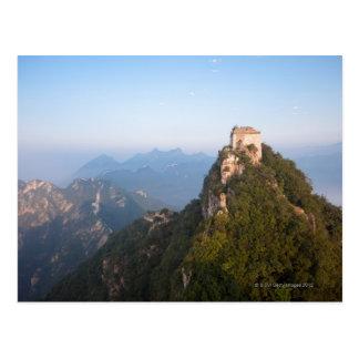 Great Wall of China, JianKou unrestored section. Postcard