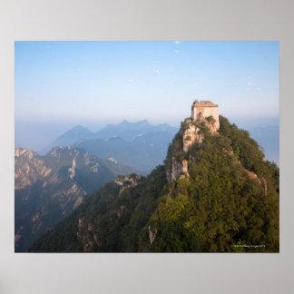 Great Wall of China, JianKou unrestored section. Poster