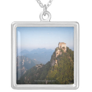 Great Wall of China, JianKou unrestored section. Silver Plated Necklace