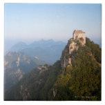 Great Wall of China, JianKou unrestored section. Tile