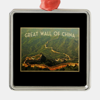 Great Wall Of China Metal Ornament