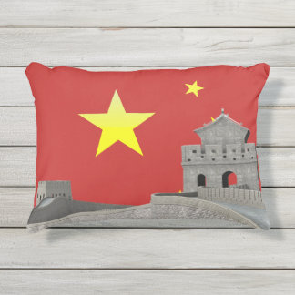 Great wall of China Outdoor Pillow
