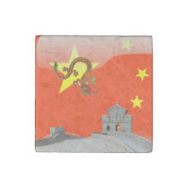Great Wall of China Stone Magnet