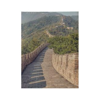 Great Wall of China Wood Poster