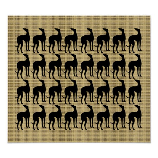 Great Wall of Greyhounds Poster