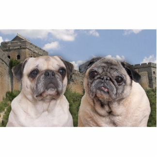 Great wall of PUG china sculpture Standing Photo Sculpture