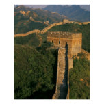 Great Wall winding through the mountain, China Poster