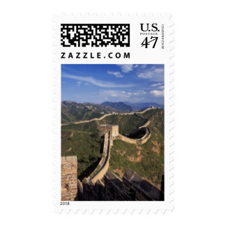 Great Wall winding through the mountain, Postage
