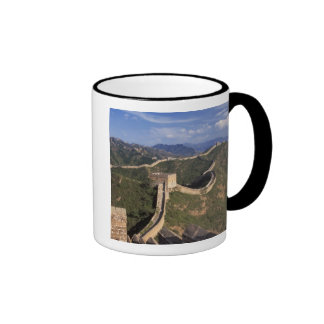 Great Wall winding through the mountain, Ringer Mug