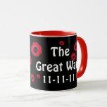 Great War Black and Red Poppy Mug