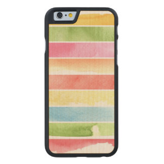 great watercolor background - watercolor paints 2 carved maple iPhone 6 case
