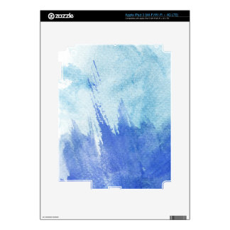 great watercolor background - watercolor paints 4 iPad 3 decals