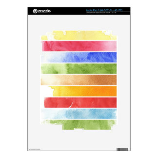 great watercolor background - watercolor paints 5 iPad 3 skins