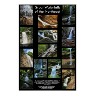 Great Waterfalls of the Northeast Poster