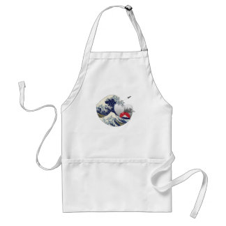 Great Wave Adult Apron