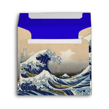Professional Business GREAT WAVE Blue White Envelope