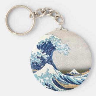 Great Wave Hokusai 葛飾北斎の神奈川沖浪裏 Keychain