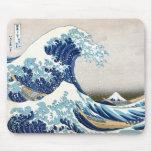 Great Wave Hokusai 葛飾北斎の神奈川沖浪裏 Mouse Pad