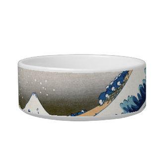 Great Wave Hokusai 葛飾北斎の神奈川沖浪裏 Cat Bowl