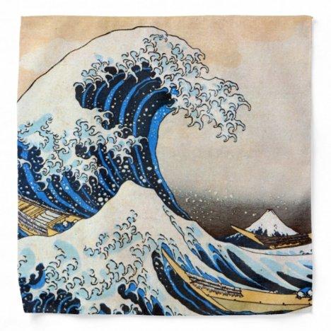 Great Wave, Hokusai, Ukiyo-e Bandana