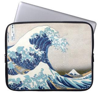 Great Wave Hokusai Vintage Japanese Art Laptop Computer Sleeves