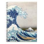 Great Wave Hokusai Vintage Japanese Art Spiral Notebook