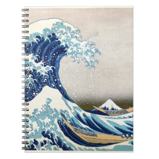 Great Wave Hokusai Vintage Japanese Art Spiral Note Book