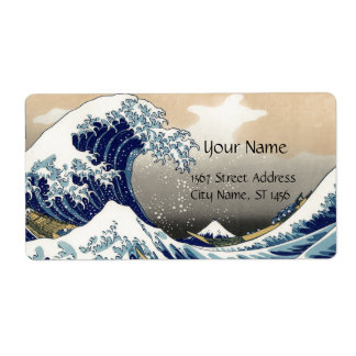 GREAT WAVE LABEL