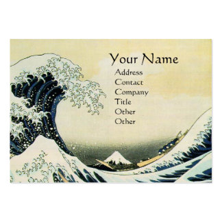 GREAT WAVE MONOGRAM LARGE BUSINESS CARD
