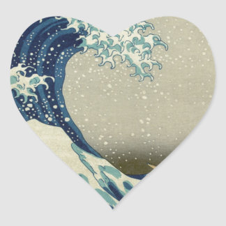 Great_Wave_off_Kanagawa2 Heart Stickers