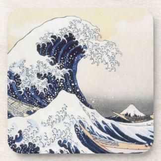 Great Wave off Kanagawa by Hokusai Drink Coaster