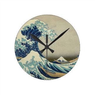 Great Wave off Kanagawa - Hokusai Clock
