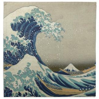 Great Wave off Kanagawa - Hokusai Cloth Napkins