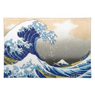 Great Wave off Kanagawa ~ Hokusai Cloth Placemat